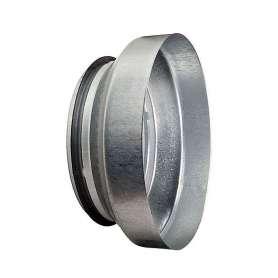 Centrisk ventilationsreduktion med muffe & nippel - 125 - 100 mm