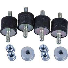 Vibrationsdæmpere til varmepumpe 10-15 kg/stk i sort - leveres i sæt af 4 stk