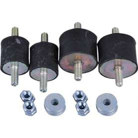 Vibrationsdæmpere til varmepumpe 20-35 kg/stk i sort - leveres i sæt af 4 stk