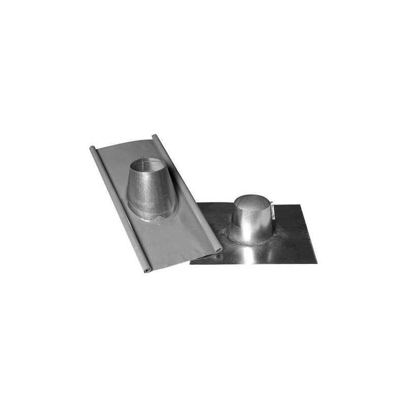 Taginddækning VHING 125 MM i grå Perform inkl. galvaniseret rørkrave. Taghældning 1-30°