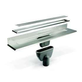 Unidrain Komplet Pakke 1000 mm med colum rist og 10 mm ramme