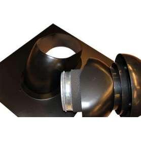 Taghætte til tagpap tag 0 - 48 grader med ABS inddækning Ø 160