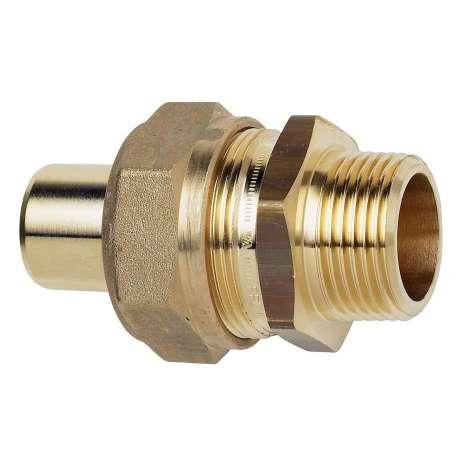 """TA Komp. Overgang med nippel 1"""" x 32x2,9/3,0 mm. Med støttebøsning til pex. Type TA 603"""