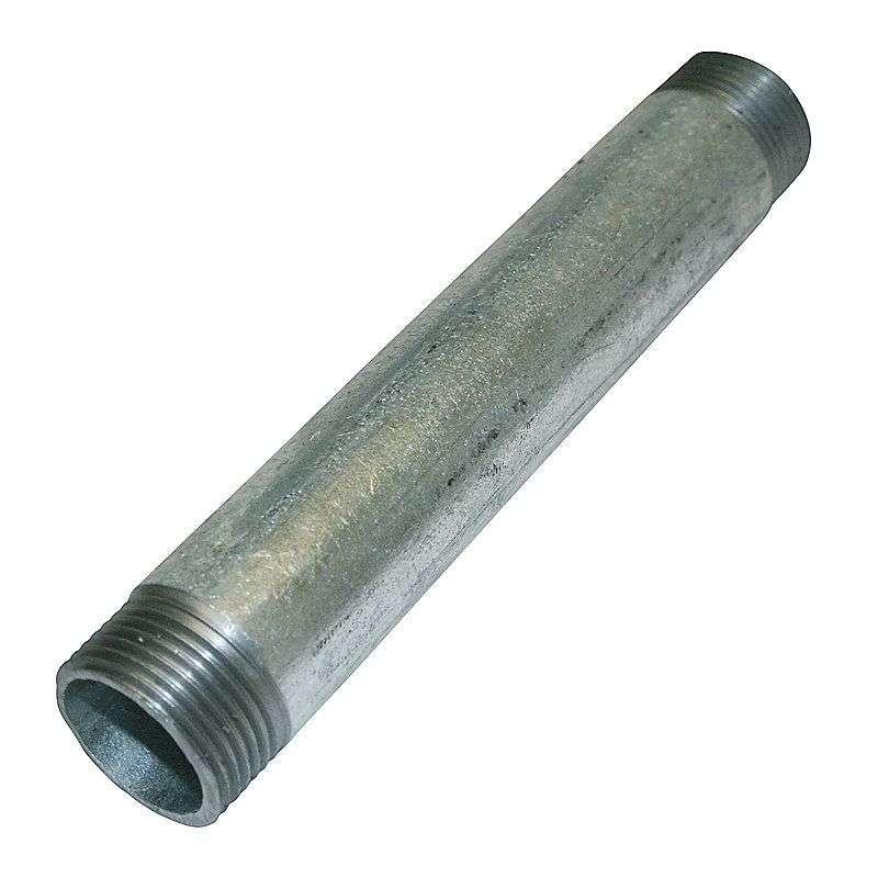 """Galvaniseret nippelrør - 1½"""" x 100 mm"""
