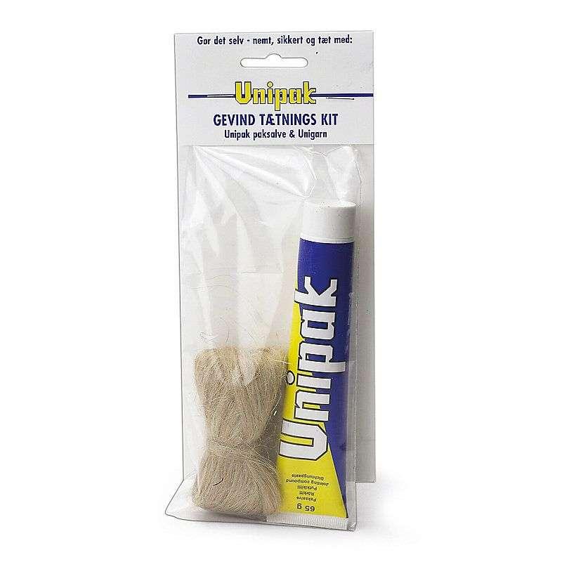 Unipak paksalve i en 65g tube og et 13g nøgle