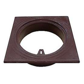 Firekantet rørbrøndkarm140 MM - Skørtediam. 139 MM